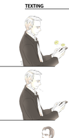 Sherlock - Mystrade Texting by zzigae