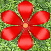 Painted Red Flower by FireLilyAMG