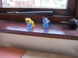 Spitfire and Soarin blind bags by IronBrony