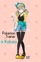 Pokemon original trainer : Kokoto by bakuniyang