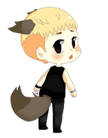 EXO Lay FanArt Wolf PNG by yeoshinim