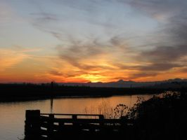 Ebey Slough Sunset by aRetrodude