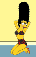 Marge Simpson as Fritzi Ritz by paulibus2001