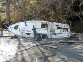 The Bay- Beached boat 1 by Avalon620