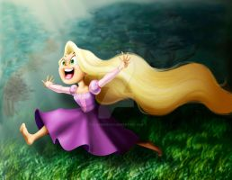Rapunzel Disney's Tangled by clarenceyao