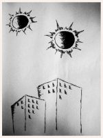 Two suns - Two buildings by SIVKOFF