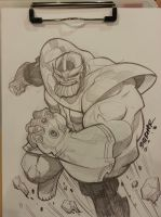 Thanos WWPHILLY pencil sketch by BTURNERart