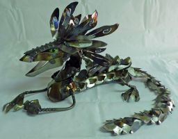 Feather Crested Articulated Dragon by Angi-kat