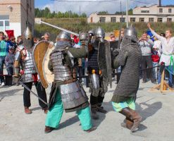 Reconstruction of knightly tournaments by Hudojnica
