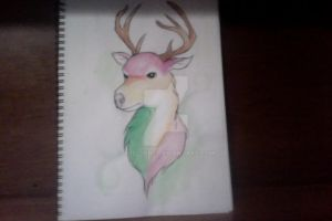 Watercolor Deer by Twilight-Tyto