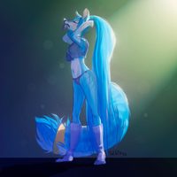 Blue wolfie by Talkis