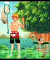 LoZ:SS Fishing in Faron Woods by GoddessHylia