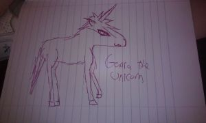 Gaara the unicorn by MadesenTheRaccoon