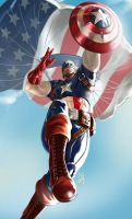 CAPTAIN AMERICA by earache-J