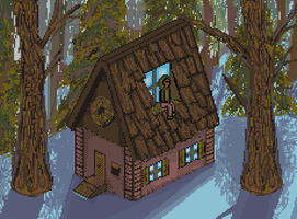 Day 14. A House. 25 Days of Pixels. by Cosmos-Centric