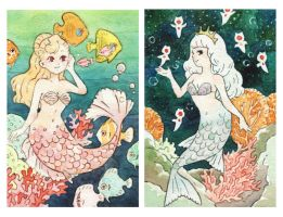 mermaids by wakato90
