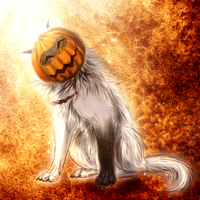 Halloween Ghost Sun by WolfsECHO