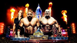 WM 29 ~ HD Wallpaper ~ HHH vs Lesnar (HBK Edition) by MhMd-Batista