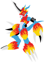 Flamedramon by qorter