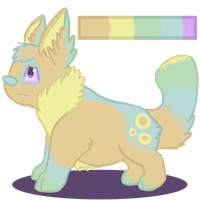 Pastel Puppy :D (Adoptable?) by raptrawr