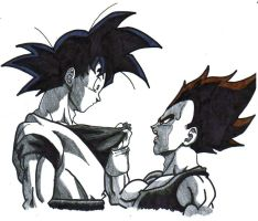 goku and vegeta. by trunks24