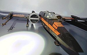 Black 1, Poe Dameron's new X-wing. (landed 2) by Witchenboy13