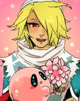 Sheik and Kirby by Sui-yumeshima