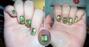 Frankenstein nails by elvaniel