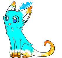 Long tailed cat adopt by sparkleadopts