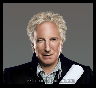 Alan Rickman Close Up by RedPassion