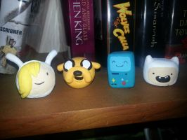 Adventure Time Mini Busts by Foredaddy