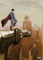 Superman stands guard by simonpimpernel