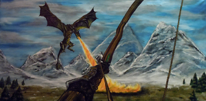 Skyrim Dragon: Take Aim by SN--ART