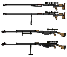 Walfas Custom - PTRD-41 and PTRS-41 by grayfox5000