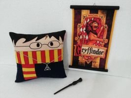 Handmade Harry Potter Plush Pillow Combo Set by RbitencourtUSA