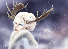 Snow elf by Tiphs