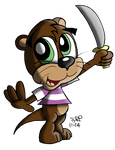Otto the Otter by JimmyCartoonist