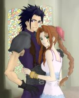 Zack and Aerith by Louna-Ashasou