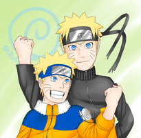 2 narutos 1 hero by parch