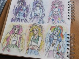 My little pony: Equestria girls :3 by mansly