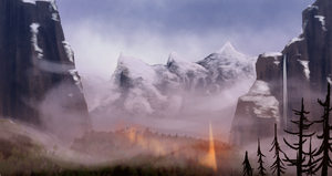 The long path throught the mountains. by agentfox