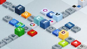 Free 3D Social Icons Set by Pixeden