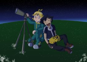 Ash and Clemont by Rumibelle