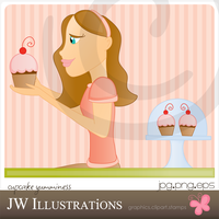 Cupcake Yumminess by jdDoodles