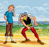 Tintin VS Asterix by gaucelm