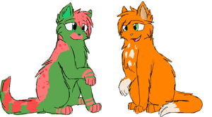 Olivia and Squirrelflight by CascadingSerenity