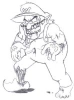 Zombie Wario by DairyKing