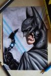 drawing batman by Tenemur