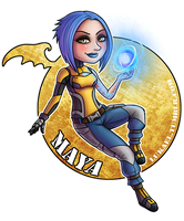 Borderlands: Maya by Lukael-Art