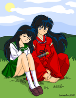 Human Inu Yasha Kagome Color by sailorharmony2000